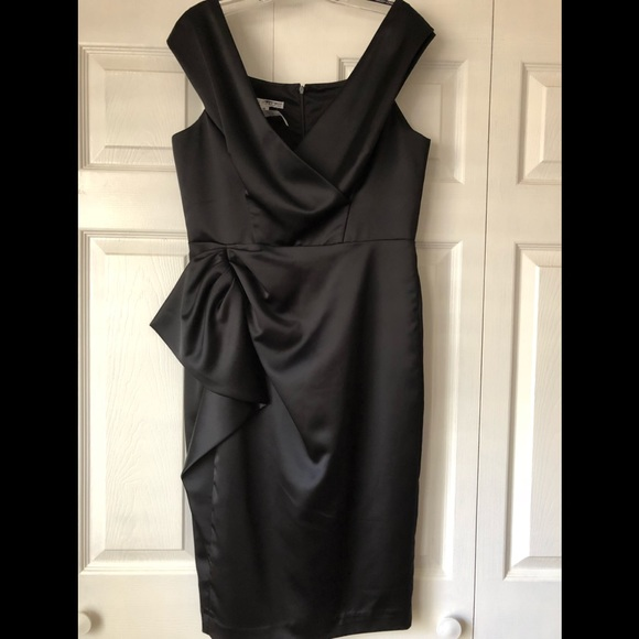 96e48664c2b Maggy London Dresses   Skirts - Black satin evening dress